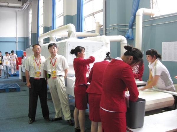 博奥员工在奥林匹克运动会设备现场